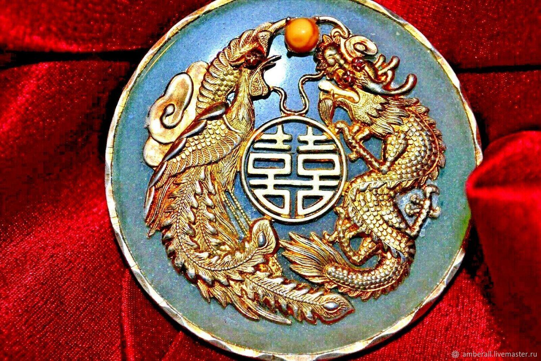 Медальон нефрит старинный, Медальон, Рига,  Фото №1