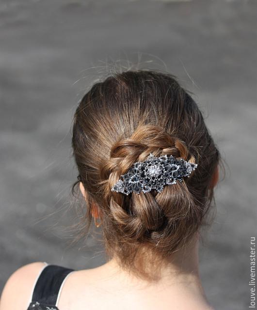 Заколки ручной работы. Ярмарка Мастеров - ручная работа. Купить Загадочная комета Кружевная Заколка для волос Брошь ручной работы. Handmade.
