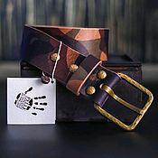 Ремни ручной работы. Ярмарка Мастеров - ручная работа Ремень из итальянской кожи. Handmade.