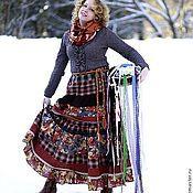 """Одежда ручной работы. Ярмарка Мастеров - ручная работа Длинная юбка в стиле бохо """"Кленовый сироп"""". Handmade."""