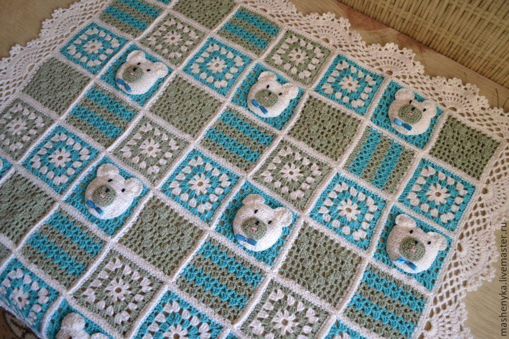 Вязание спицами одеяло для мальчика