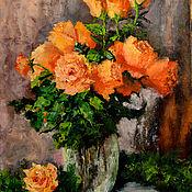 """Картины и панно ручной работы. Ярмарка Мастеров - ручная работа """"Очарование роз"""". Handmade."""