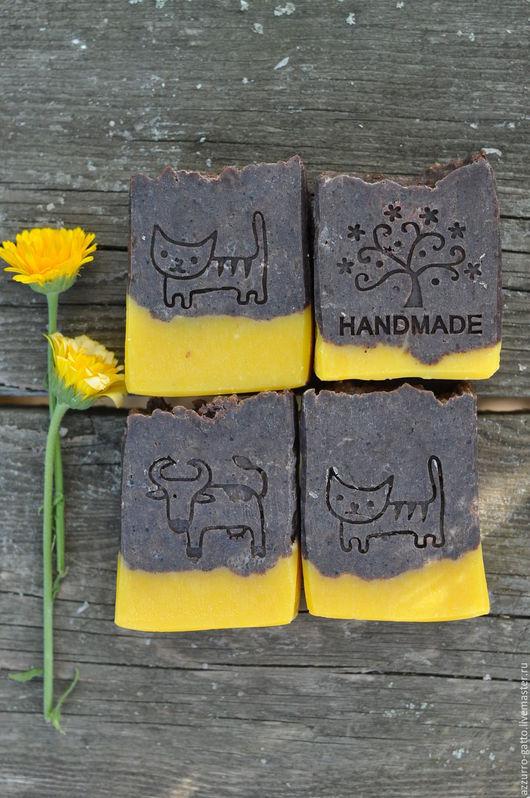Мыло ручной работы. Ярмарка Мастеров - ручная работа. Купить Шоколадный апельсин, натуральное мыло с какао бобами. Handmade. Коричневый