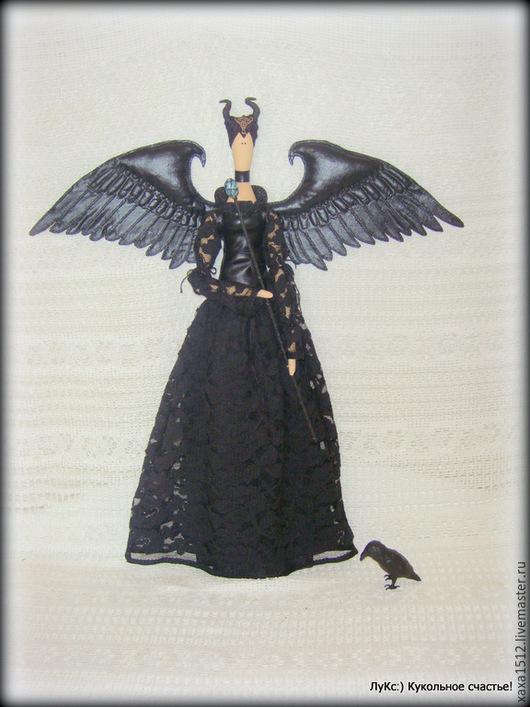Куклы Тильды ручной работы. Ярмарка Мастеров - ручная работа. Купить Малефисента - фея Зачарованного леса, текстильная кукла в стиле Тильда. Handmade.