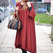 Одежда handmade. Livemaster - original item Tunic dress long sleeve DR0086CT. Handmade.