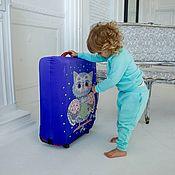 "Case handmade. Livemaster - original item Чехол на чемодан ""Cова"". Handmade."