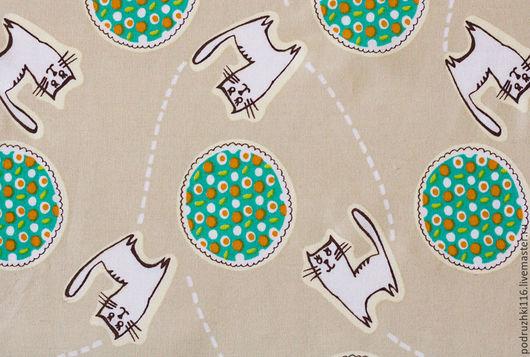 Шитье ручной работы. Ярмарка Мастеров - ручная работа. Купить Ткань Хлопок Котики. Handmade. Хлопок, хлопок для игрушек