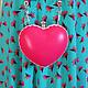 """Женские сумки ручной работы. Ярмарка Мастеров - ручная работа. Купить Клатч """"Pink heart"""". Handmade. Сердце, сердечко"""
