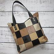 """Женская сумка - Yulada Bag """"Печворк""""(L"""