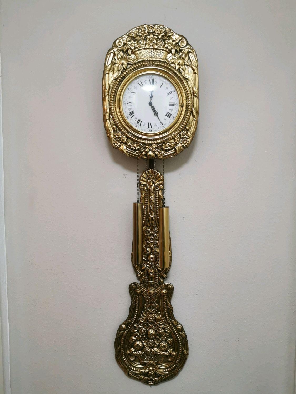Большие  настенные немецкие часы Urgus, 70-х годов, Часы, Эссен, Фото №1