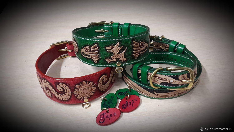 Collar-herring for dogs of genuine leather, Dog - Collars, Yoshkar-Ola,  Фото №1