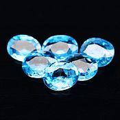 Бусины ручной работы. Ярмарка Мастеров - ручная работа Циркон голубой (старлит) натуральный, овал 4х5 мм, 44 шт. Handmade.