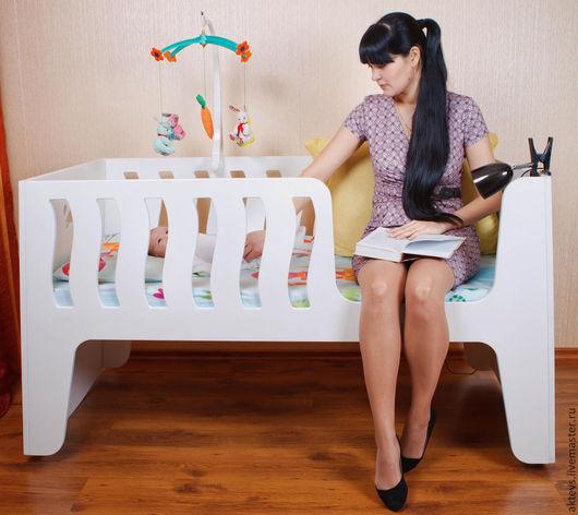 Мебель ручной работы. Ярмарка Мастеров - ручная работа. Купить Кроватка Трансформер 4 в 1. Handmade. Белый, люлька, Трансформер