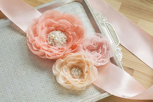 Пояса, ремни ручной работы. Ярмарка Мастеров - ручная работа. Купить Пояс для свадебного или вечернего платья. Handmade. Разноцветный