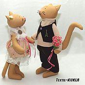 Куклы и игрушки ручной работы. Ярмарка Мастеров - ручная работа Cats - влюбленные коты неразлучники (в стиле тильда). Handmade.