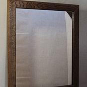Зеркала ручной работы. Ярмарка Мастеров - ручная работа Зеркало в раме из дуба Дуб тёмный. Handmade.