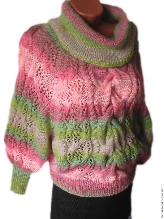 Кофты и свитера ручной работы. Ярмарка Мастеров - ручная работа. Купить джемпер женский вязаный. Handmade. Джемпер вязаный, мохер