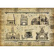 Материалы для творчества ручной работы. Ярмарка Мастеров - ручная работа Камины (CP04570) - рисовая бумага, А3. Handmade.