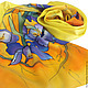 Шарфы и шарфики ручной работы. Ярмарка Мастеров - ручная работа. Купить Шарф Батик Ирисы Ван Гог. Handmade. Желтый