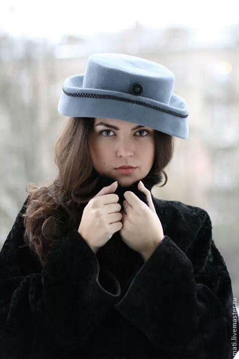 """Шляпы ручной работы. Ярмарка Мастеров - ручная работа. Купить шляпка """"Кристи"""". Handmade. Серый, шерсть, кролик"""