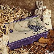 """Для дома и интерьера ручной работы. Ярмарка Мастеров - ручная работа Короб """"Черника Моны Свард"""". Handmade."""