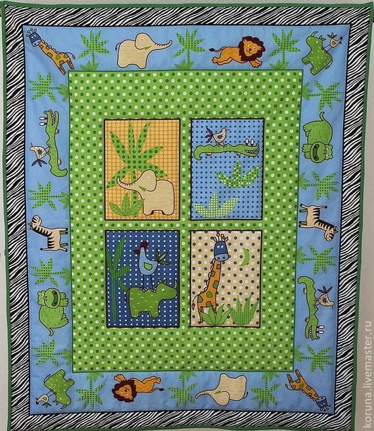 """Пледы и одеяла ручной работы. Ярмарка Мастеров - ручная работа. Купить Детский плед-покрывало-одеяло """"Бэби-сафари"""". Handmade."""