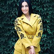 """Одежда handmade. Livemaster - original item Шерстяной костюм с ручной вышивкой """"Золотая осень"""". Handmade."""