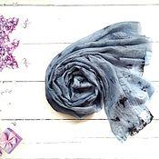Аксессуары handmade. Livemaster - original item Silk scarf Summer rain, batik stole.. Handmade.