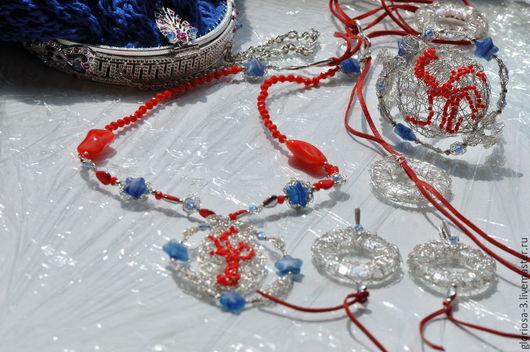 Подарочные наборы ручной работы. Ярмарка Мастеров - ручная работа. Купить Коралловые сны. Handmade. Синий, ткань плательная, Замки