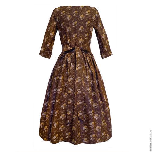 Платья ручной работы. Ярмарка Мастеров - ручная работа. Купить Платье Mystery forest. Handmade. Коричневый, платье до колен, лес