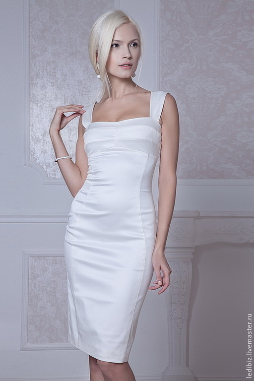 Одежда и аксессуары ручной работы. Ярмарка Мастеров - ручная работа. Купить Маленькое белое платье Apilat. Handmade. Белый