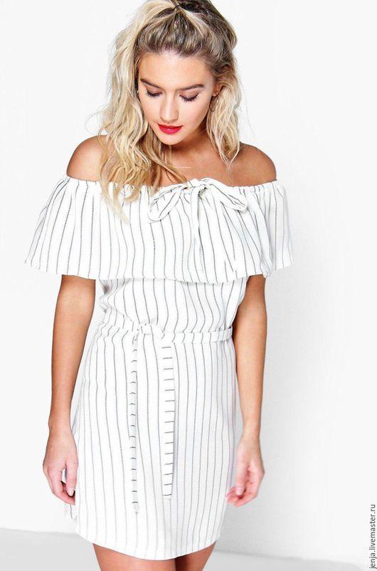 Платья ручной работы. Ярмарка Мастеров - ручная работа. Купить Sexy stripes dress in white. Handmade. Чёрно-белый