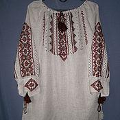 Одежда ручной работы. Ярмарка Мастеров - ручная работа Блуза-вышиванка из льна Карпатский узор 40-42 готовая и на заказ. Handmade.