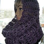 Аксессуары handmade. Livemaster - original item Snood, scarf-collar, half-hair, BlackBerry color. Handmade.