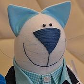"""Куклы и игрушки ручной работы. Ярмарка Мастеров - ручная работа Кот """"Джинсовый 1"""". Handmade."""
