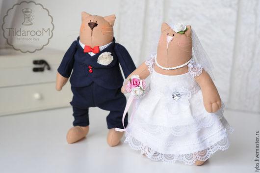 Свадебные коты Тильда. Авторская ручная работа. Мастерская `Tildaroom` (Люба Морозова) ©