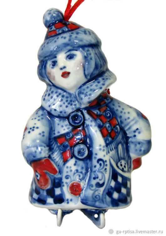 Колокольчик на коньках Фарфор, Колокольчики, Москва,  Фото №1