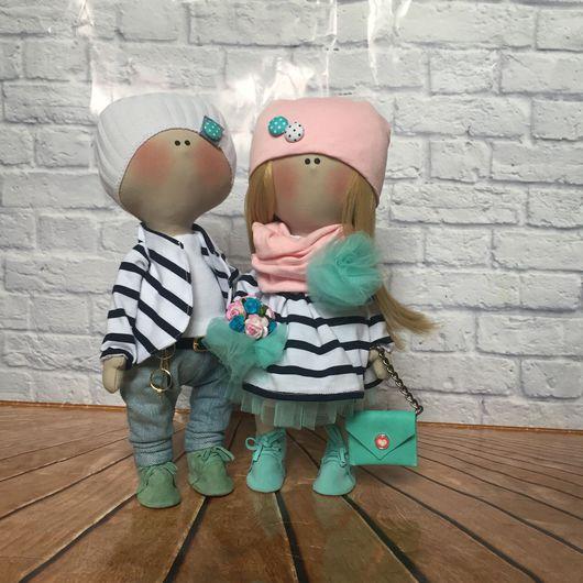 Куклы тыквоголовки ручной работы. Ярмарка Мастеров - ручная работа. Купить Интерьерные текстильные куклы .. Handmade. Кукла ручной работы