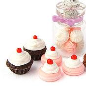 Куклы и игрушки ручной работы. Ярмарка Мастеров - ручная работа Сладости набор кукольная миниатюра десерт шоколад зефир пирожное. Handmade.