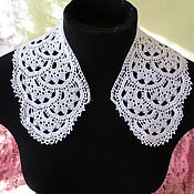 Винтаж handmade. Livemaster - original item A copy of the work, the Collar crocheted. Handmade.