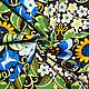 Шитье ручной работы. Заказать Американский хлопок  ЦВЕТОЧНЫЙ УЗОР голубые цветы. ХЛОПОК из АМЕРИКИ от МОДНЫХ ВМЕСТЕ. Ярмарка Мастеров.