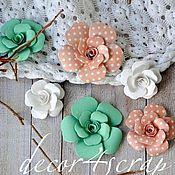 Материалы для творчества ручной работы. Ярмарка Мастеров - ручная работа Набор цветов Freetany Flowers – 16 Коралл. Handmade.
