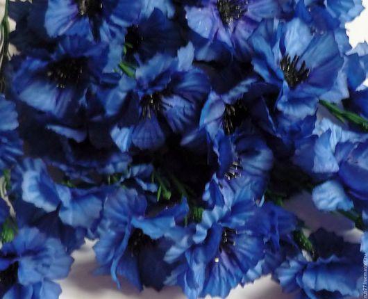 Материалы для флористики ручной работы. Ярмарка Мастеров - ручная работа. Купить Ветка с васильками. Handmade. Синий, искусственные цветы