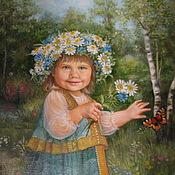 """Картины и панно ручной работы. Ярмарка Мастеров - ручная работа """"Машенька"""" портрет. Handmade."""