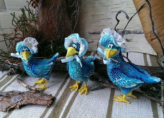 Игрушки животные, ручной работы. Ярмарка Мастеров - ручная работа. Купить Птица счастья или чудо в перьях. Handmade. чудо
