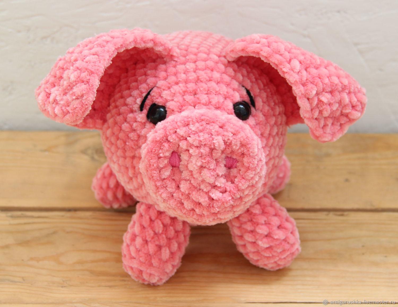 Amigurumi Pig : Plush pig toy amigurumi u shop online on livemaster with shipping