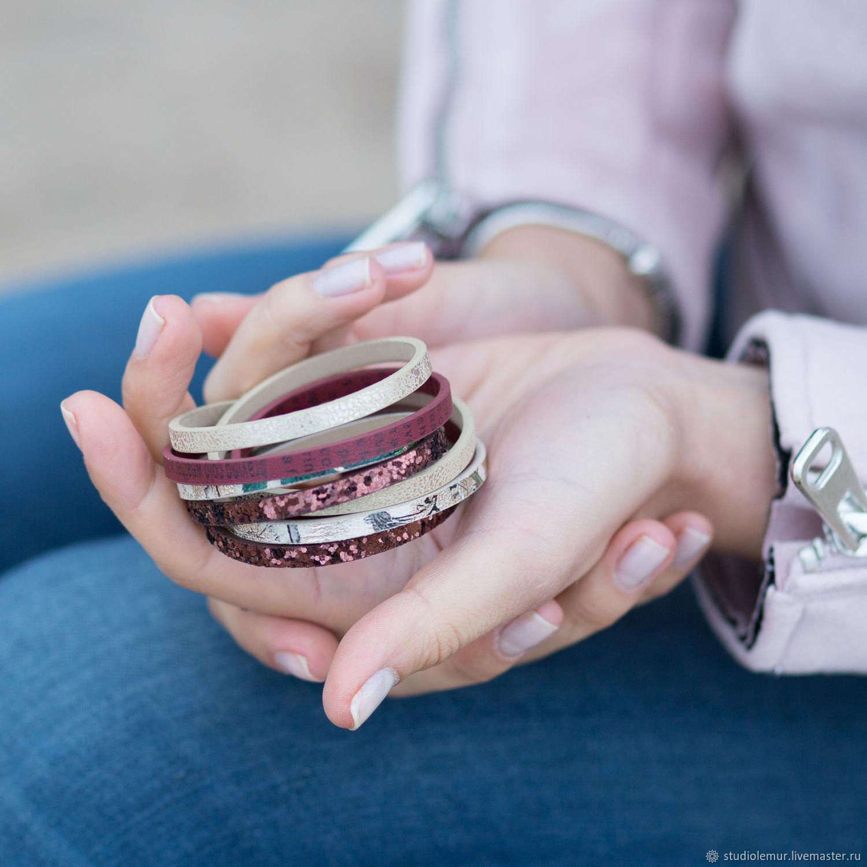 """Браслеты ручной работы. Ярмарка Мастеров - ручная работа. Купить Кожаный браслет """"Бельгия"""". Handmade. Браслет, подарок женщине, стильный"""