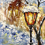 Картины и панно handmade. Livemaster - original item Christmas picture Lamp. Handmade.