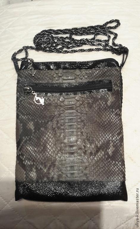 Женские сумки ручной работы. Ярмарка Мастеров - ручная работа. Купить сумочка из питона. Handmade. Разноцветный, кожа питона