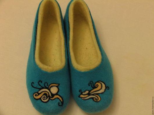 Обувь ручной работы. Ярмарка Мастеров - ручная работа. Купить Тапочки. Handmade. Разноцветный, натуральная шерсть, Валяние, тапки